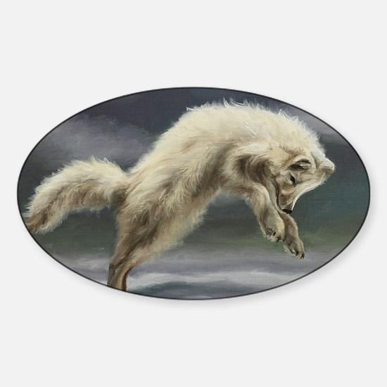 Arctic Fox Sticker (Oval)
