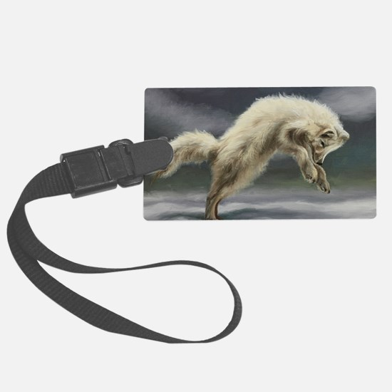 Arctic Fox Luggage Tag