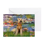 Lilies#2 & Airedale (S) Greeting Cards (Pk of 10)