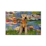 Lilies#2 & Airedale (S) Rectangle Magnet (10 pack)