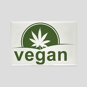 Vegan Weedie Rectangle Magnet
