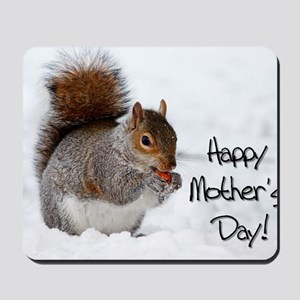 Happy Mothers Day Squirrel Mousepad