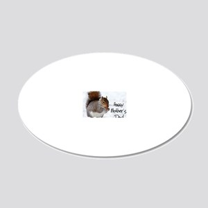 Happy Mothers Day Squirrel 20x12 Oval Wall Decal