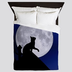 Moon Cat Queen Duvet