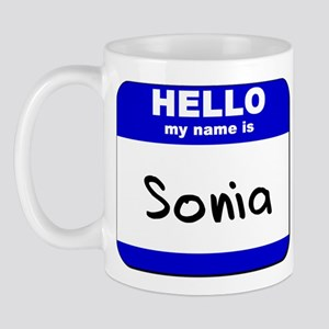 hello my name is sonia  Mug