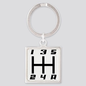5-speed logo Square Keychain