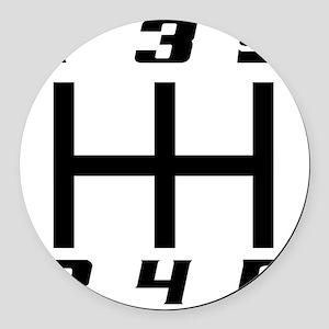 5-speed logo Round Car Magnet