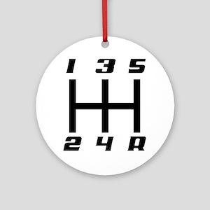 5-speed logo Round Ornament