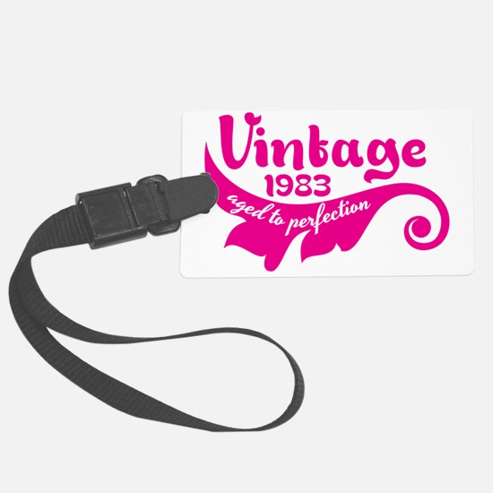 Vintage 1983 aged to perfection  Luggage Tag