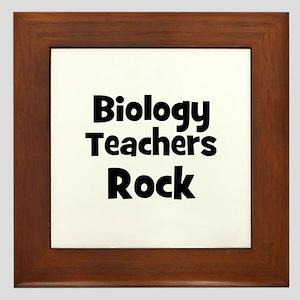 Biology Teachers Rock Framed Tile