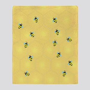 Bees buzzing (ff) Throw Blanket