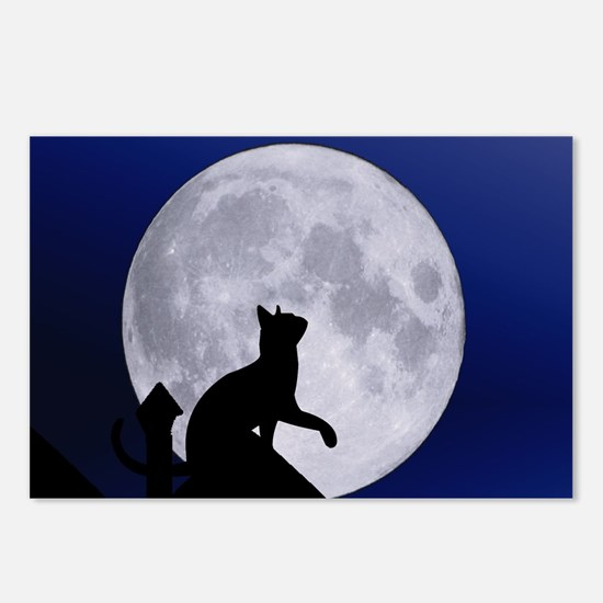 Moon Cat Postcards (Package of 8)