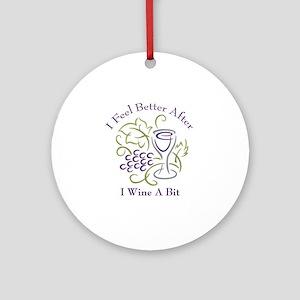 Wine a Bit Ornament (Round)