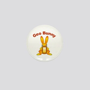 Geo Bunny Mini Button