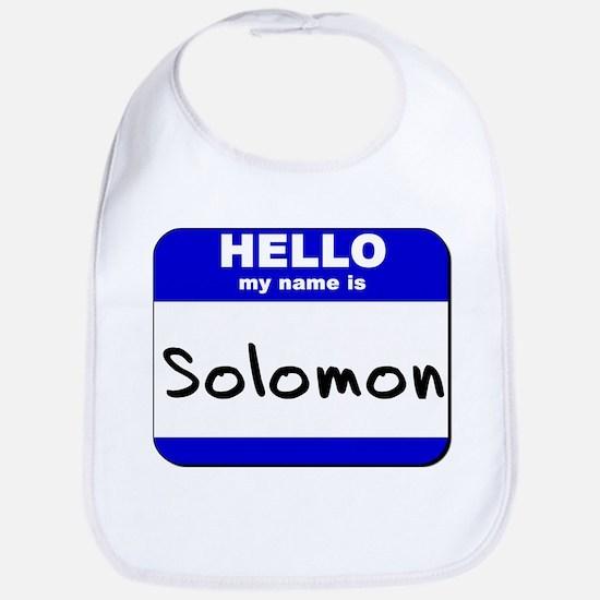 hello my name is solomon  Bib