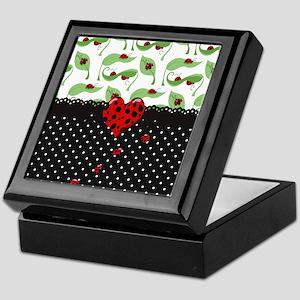 Ladybug Bliss Black Polka Dots Keepsake Box