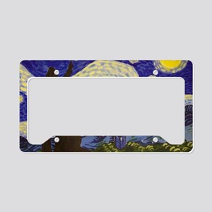 Phone Box Starry Night License Plate Holder