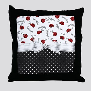 Ladybug Dreams Throw Pillow