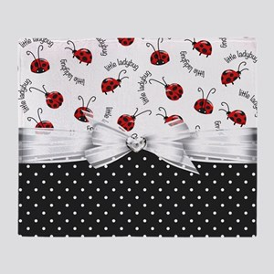 Ladybug Dreams Throw Blanket