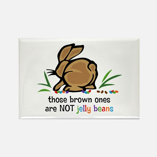 Brown Jelly Beans Rectangle Magnet