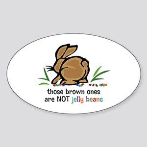 Brown Jelly Beans Oval Sticker