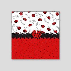"Ladybugs Dotty World Square Sticker 3"" x 3"""
