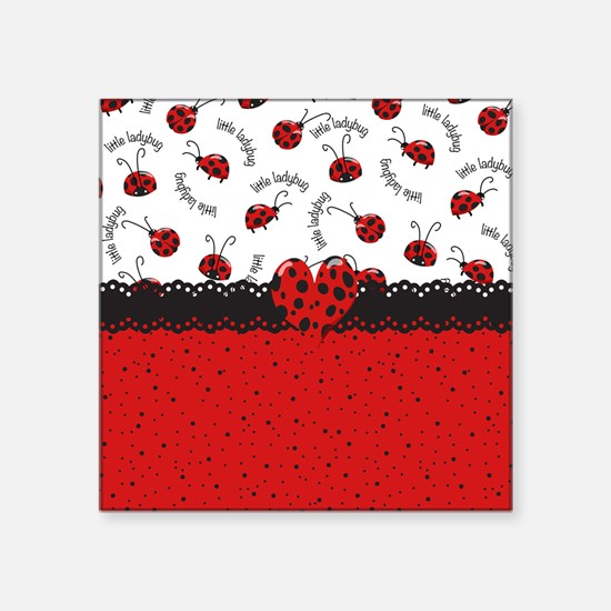 "Ladybugs Dotty World Square Sticker 3"" x 3"""