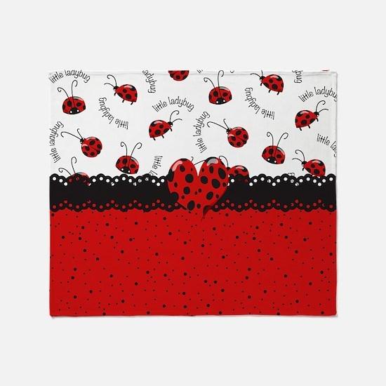 Ladybugs Dotty World Throw Blanket