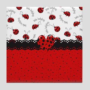 Ladybugs Dotty World Tile Coaster