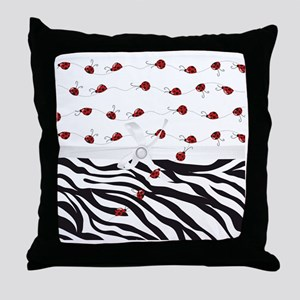 Ladybug Dreams Leopard Care Throw Pillow