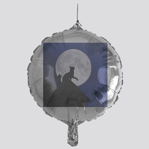 Moon Cat Mylar Balloon