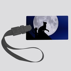 Moon Cat Large Luggage Tag