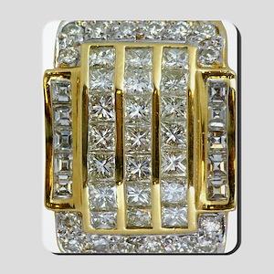 Yellow Gold and Diamond Bling Mousepad