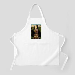 Mona Lisa - Airedale #3 Apron