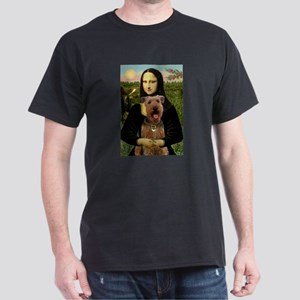 Mona Lisa - Airedale #3 Dark T-Shirt