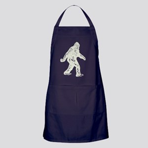 GONE SQUATCHIN BIGFOOT T SHIRT Apron (dark)