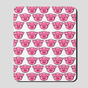 Cute Pink Pigs Mousepad