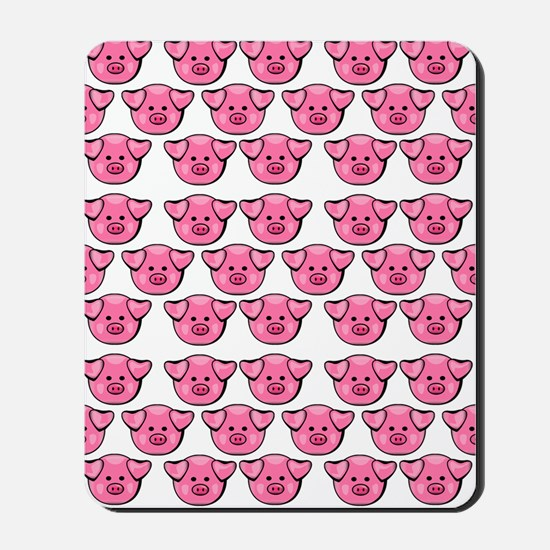 Cute Pink Pigs Mousepad