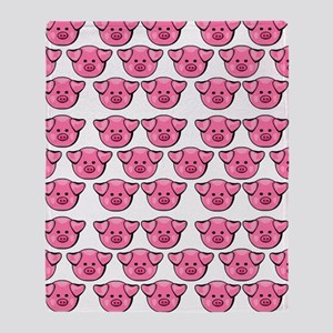 Cute Pink Pigs Throw Blanket