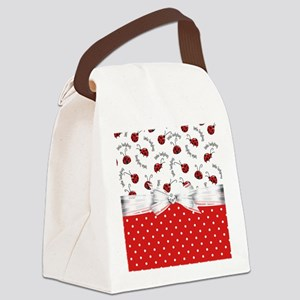 Ladybug  Surprises Canvas Lunch Bag