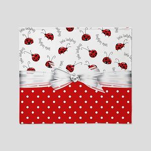 Ladybug  Surprises Throw Blanket