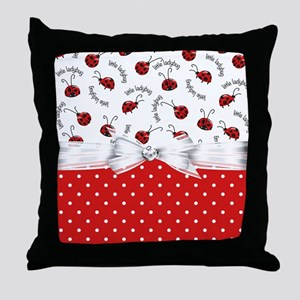 Ladybug  Surprises Throw Pillow