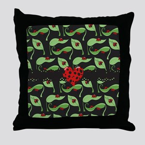 Ladybug Heart Throw Pillow