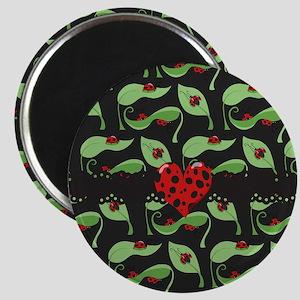 Ladybug Heart Magnet
