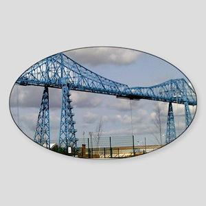 Transporter Bridge Sticker (Oval)