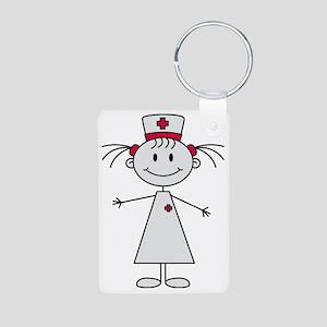 nurse Aluminum Photo Keychain