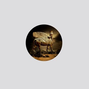 Winged Bull Mini Button