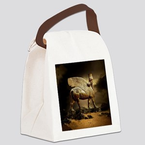 Winged Bull Canvas Lunch Bag