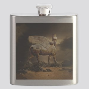 Winged Bull Flask