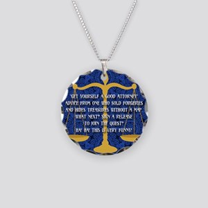 Get Yourself A Good Attorney Necklace Circle Charm